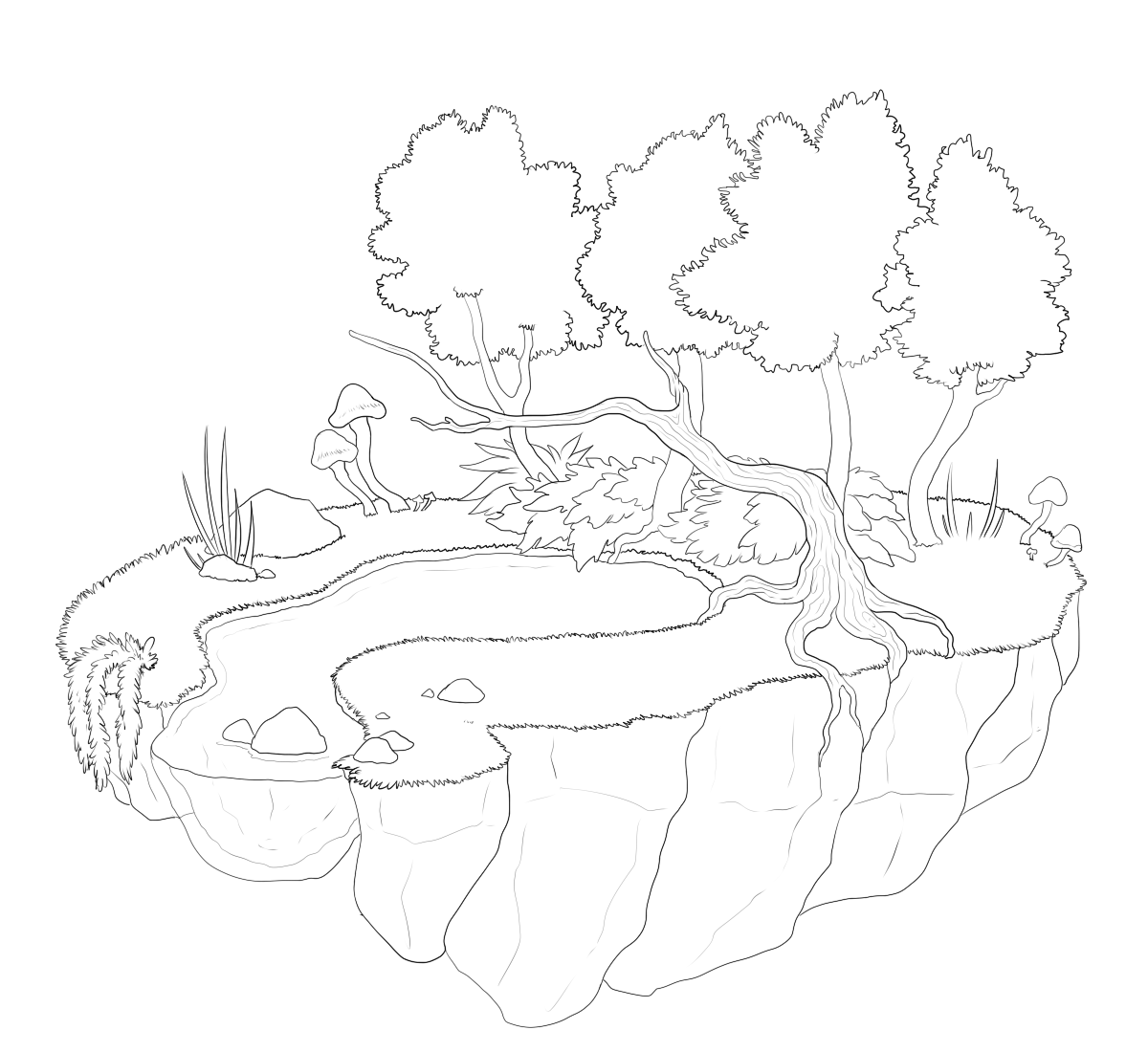 Floating Island coloring #15, Download drawings