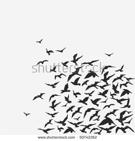Flock Of Birds clipart #1, Download drawings