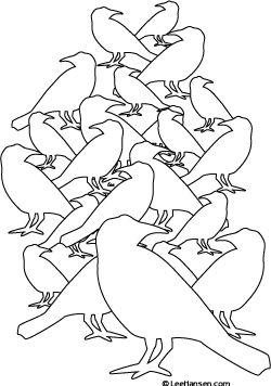 Flock Of Birds coloring #8, Download drawings