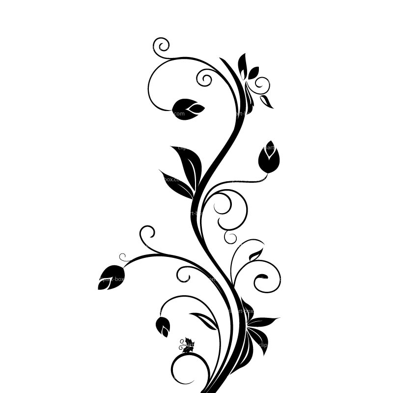 Floral clipart #6, Download drawings