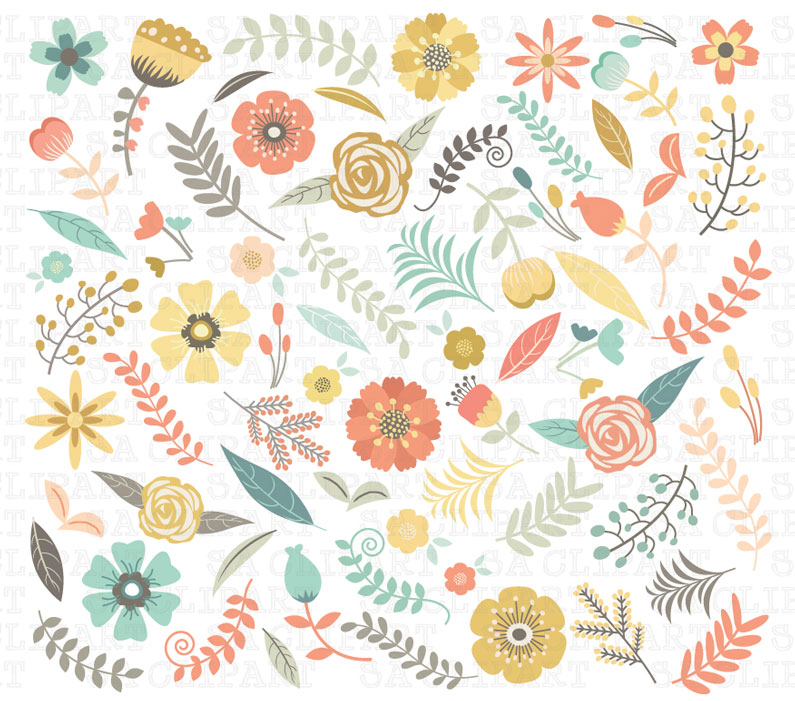 Florais clipart #4, Download drawings