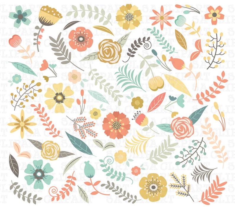 Florais clipart #4, Download drawings