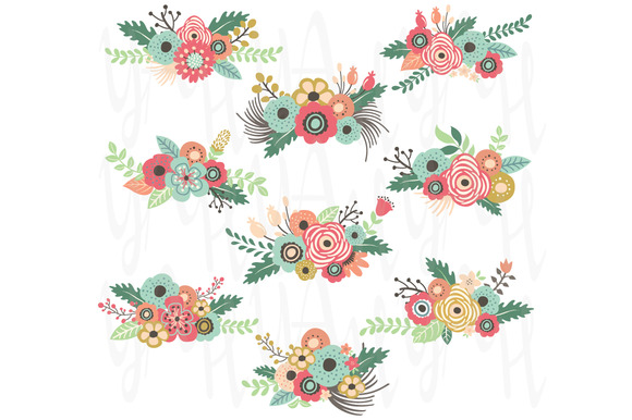 Florais clipart #3, Download drawings