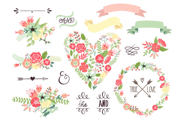 Floral clipart #16, Download drawings
