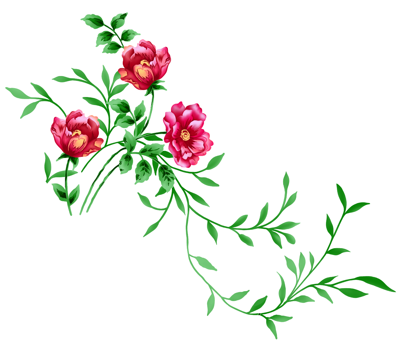 Florais clipart #1, Download drawings