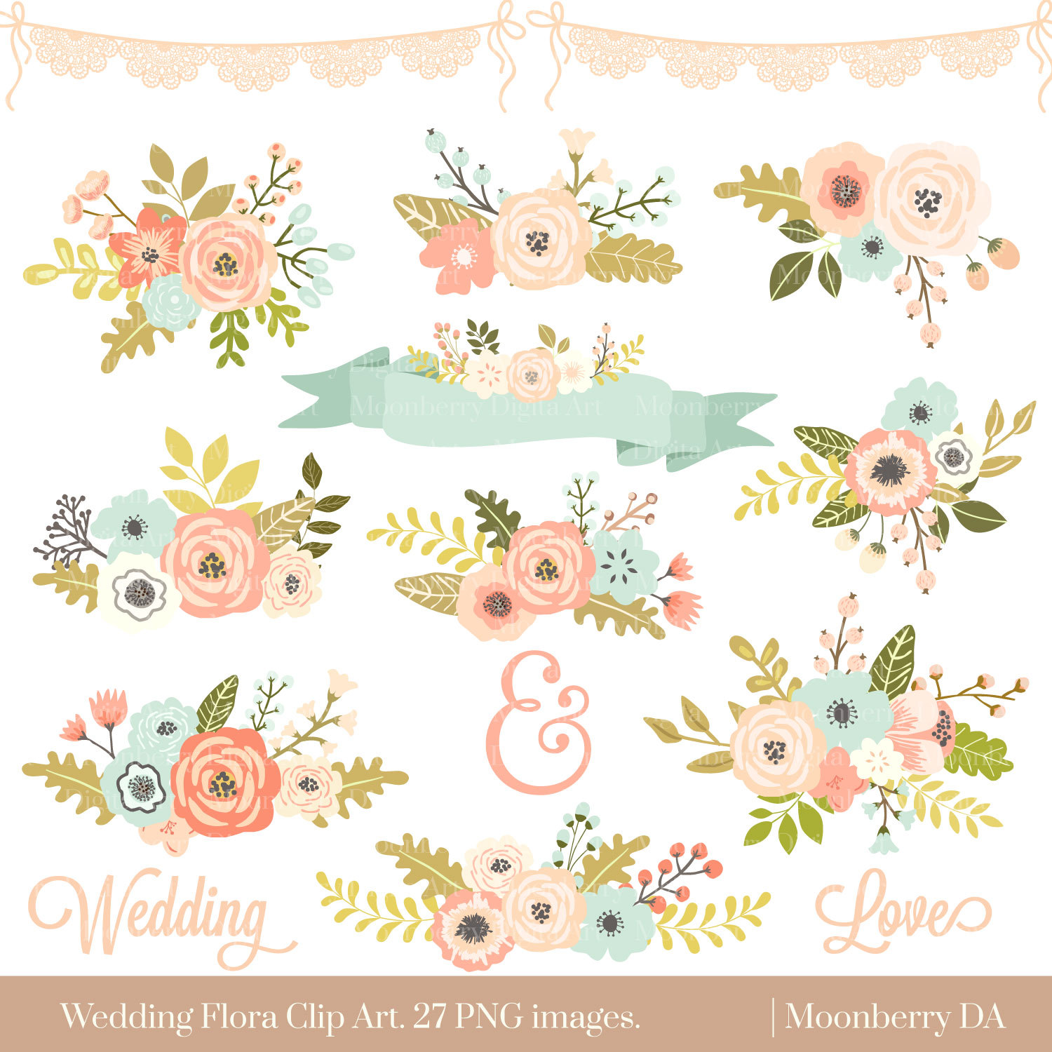 Floral clipart #18, Download drawings
