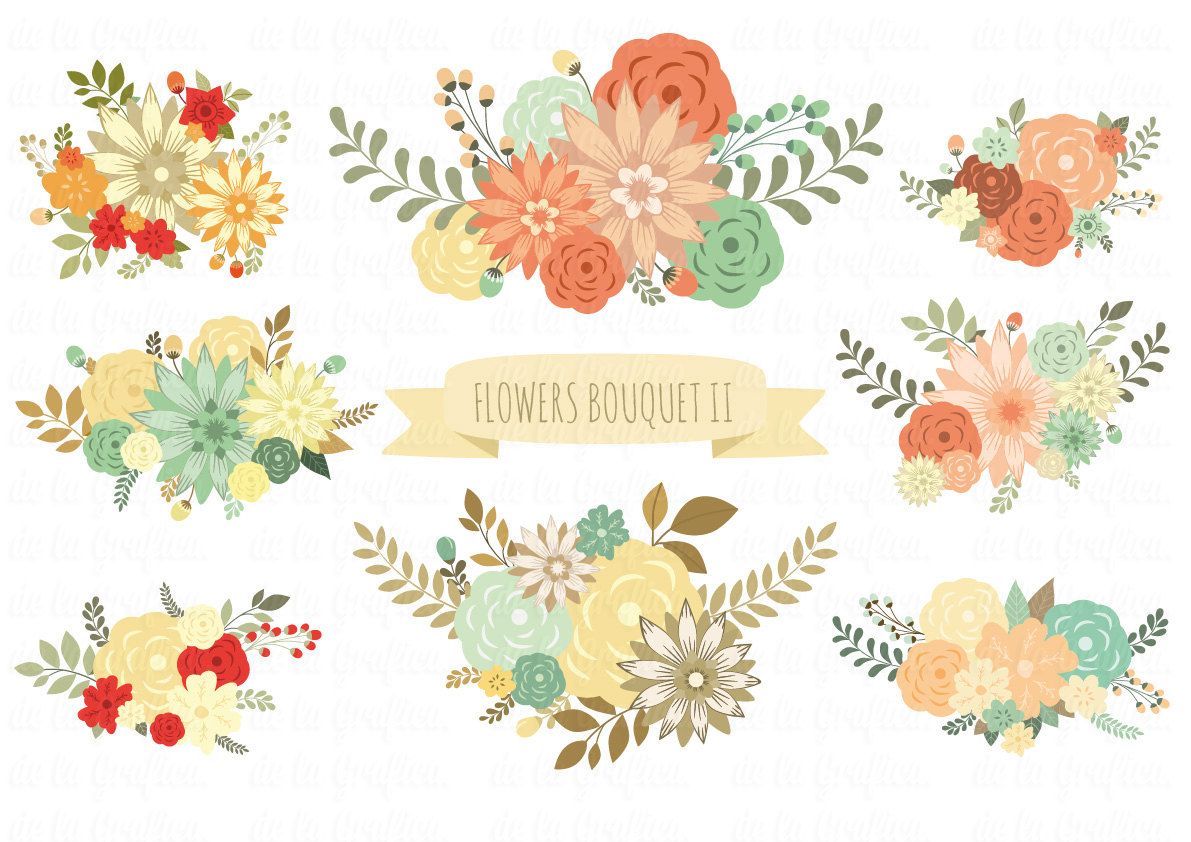 Floral clipart #17, Download drawings