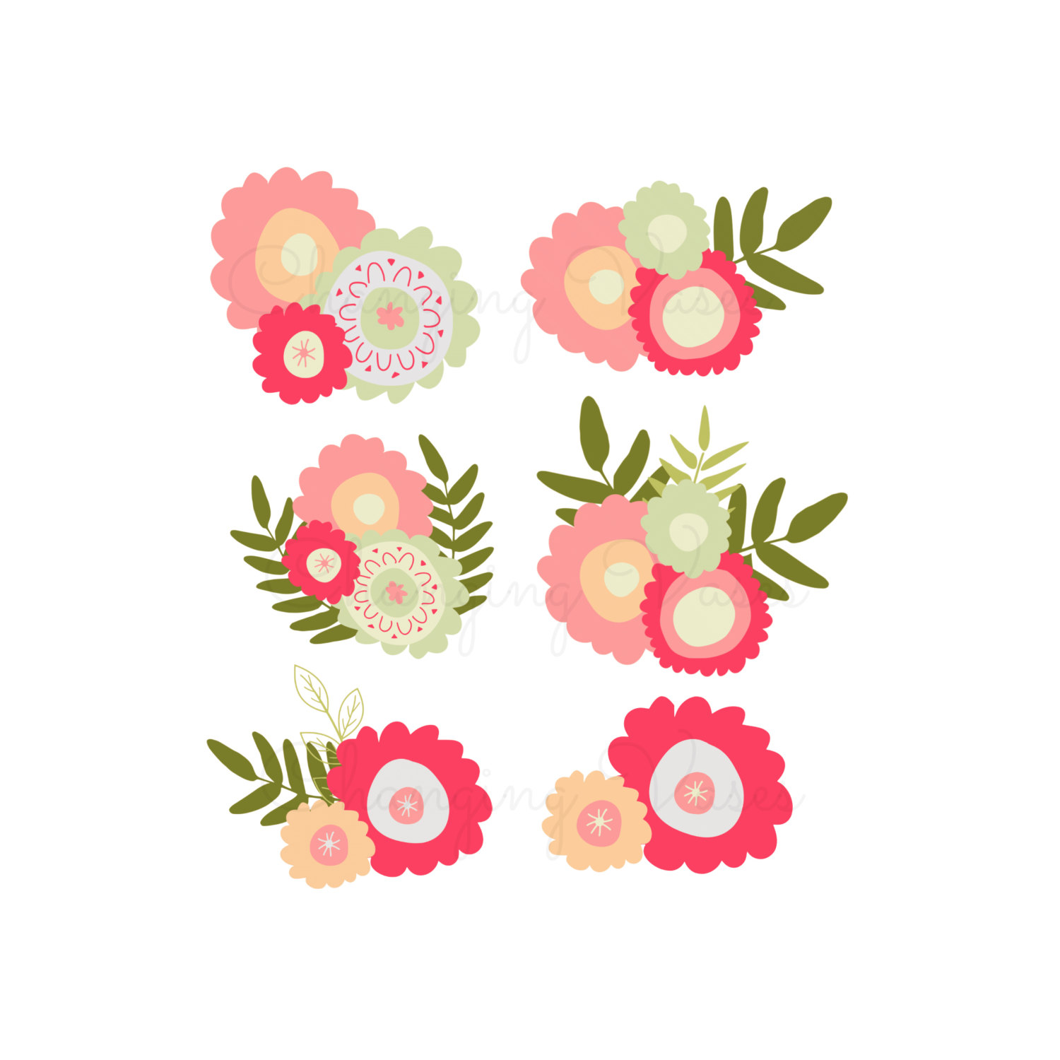 Floral clipart #3, Download drawings