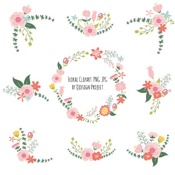 Floral clipart #2, Download drawings