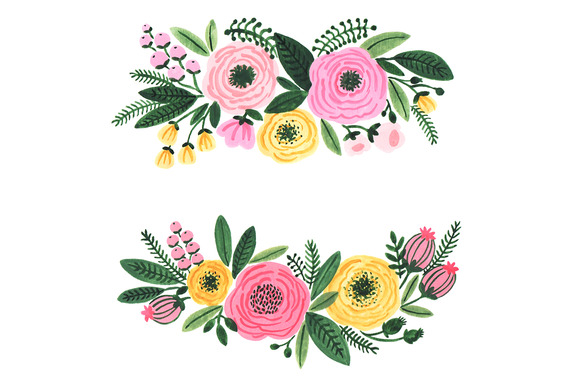 Floral clipart #20, Download drawings