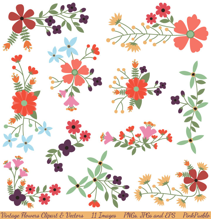 Floral clipart #14, Download drawings