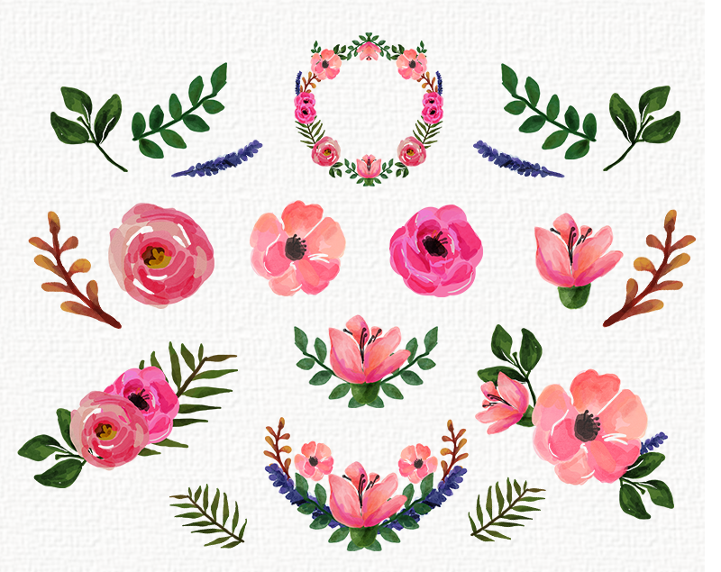 Floral clipart #9, Download drawings