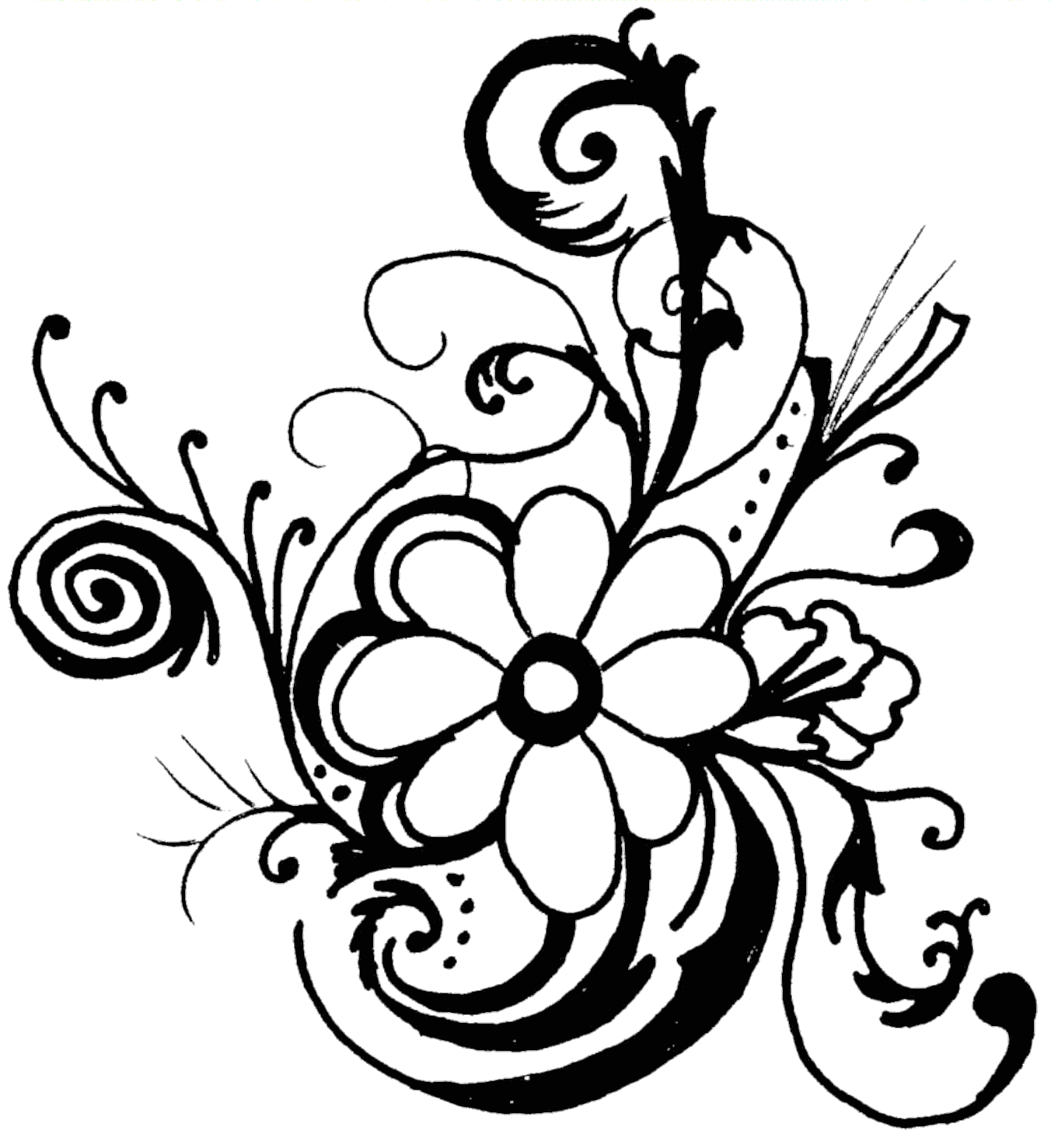 Floral clipart #4, Download drawings