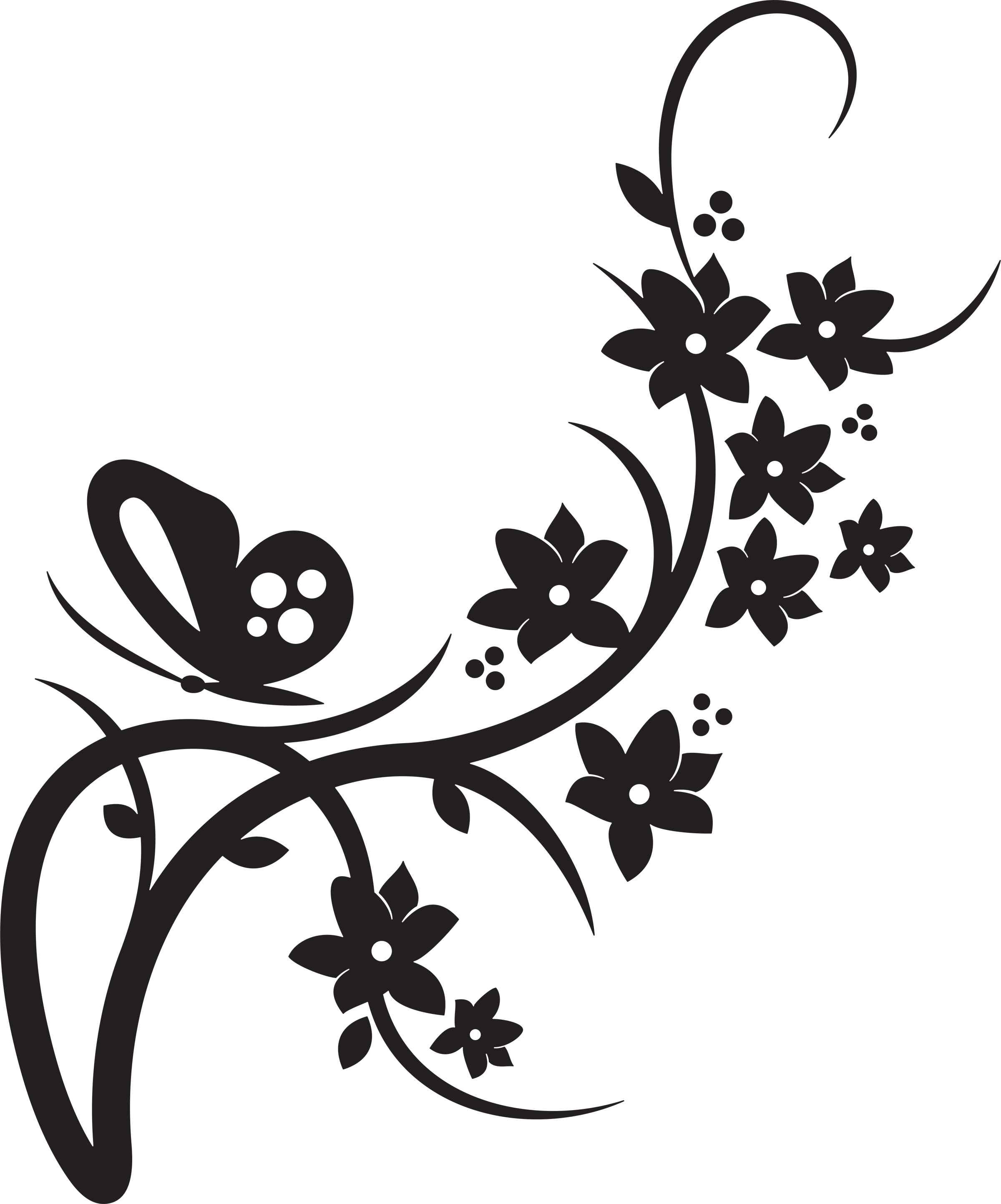 Floral clipart #1, Download drawings
