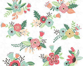 Floral clipart #7, Download drawings