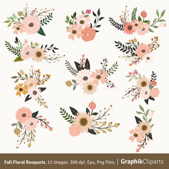 Floral clipart #15, Download drawings