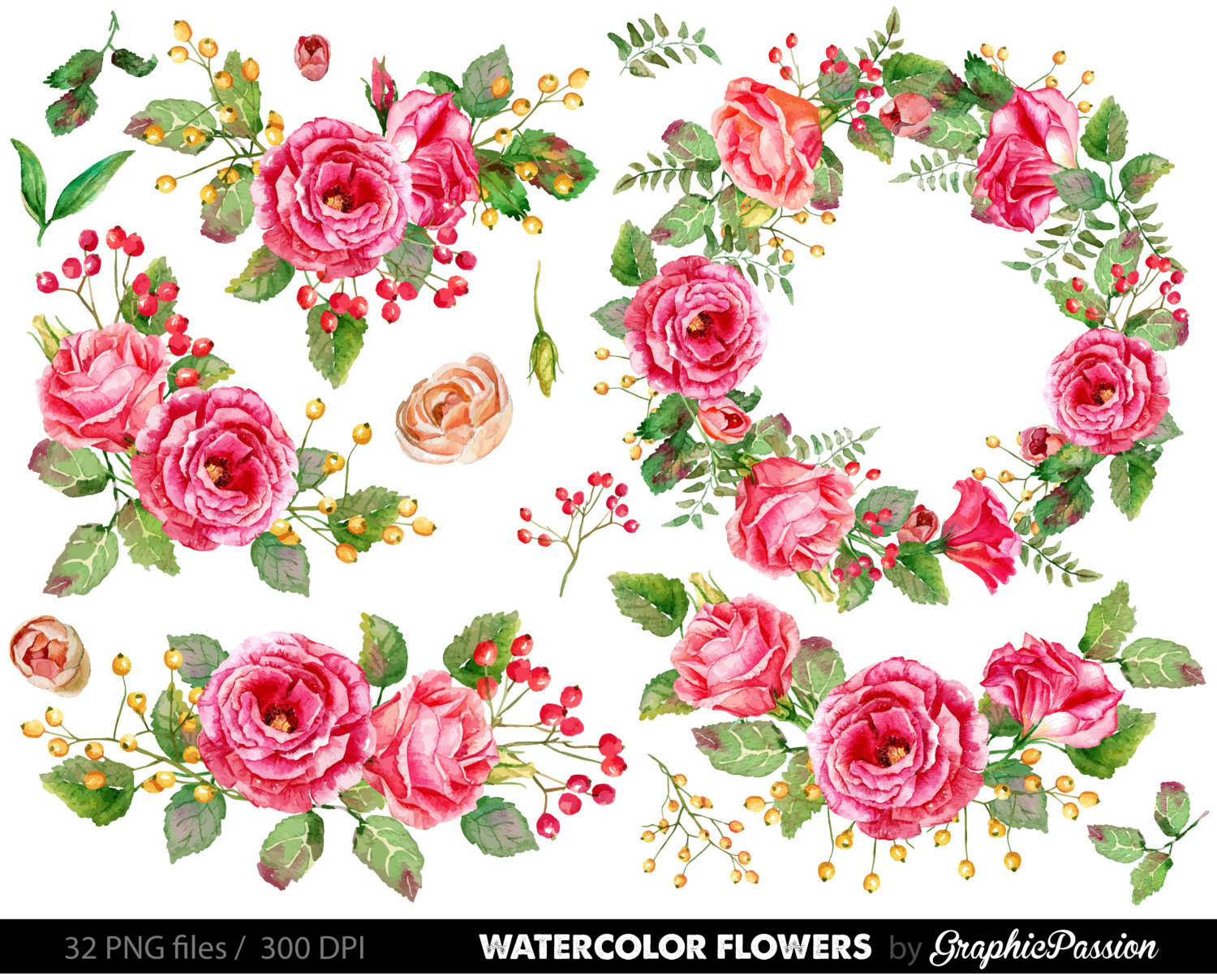 Floral clipart #12, Download drawings