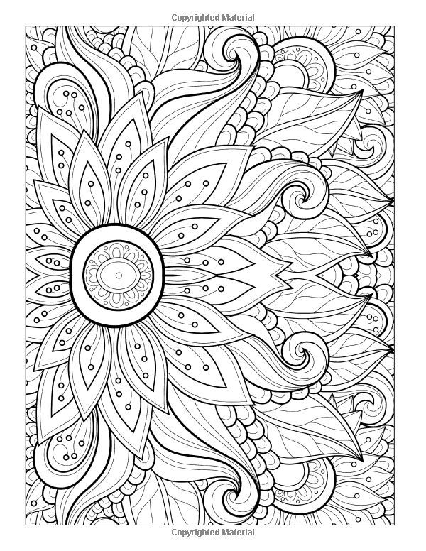 Floral coloring #4, Download drawings
