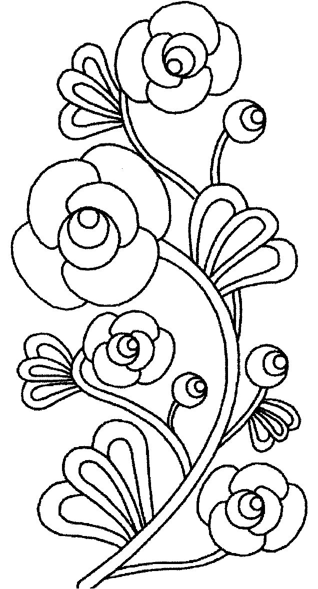 Floral coloring #11, Download drawings