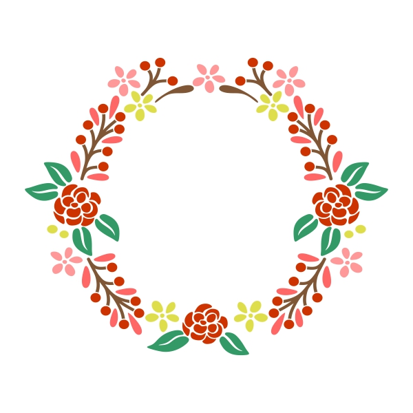 Floral svg #17, Download drawings