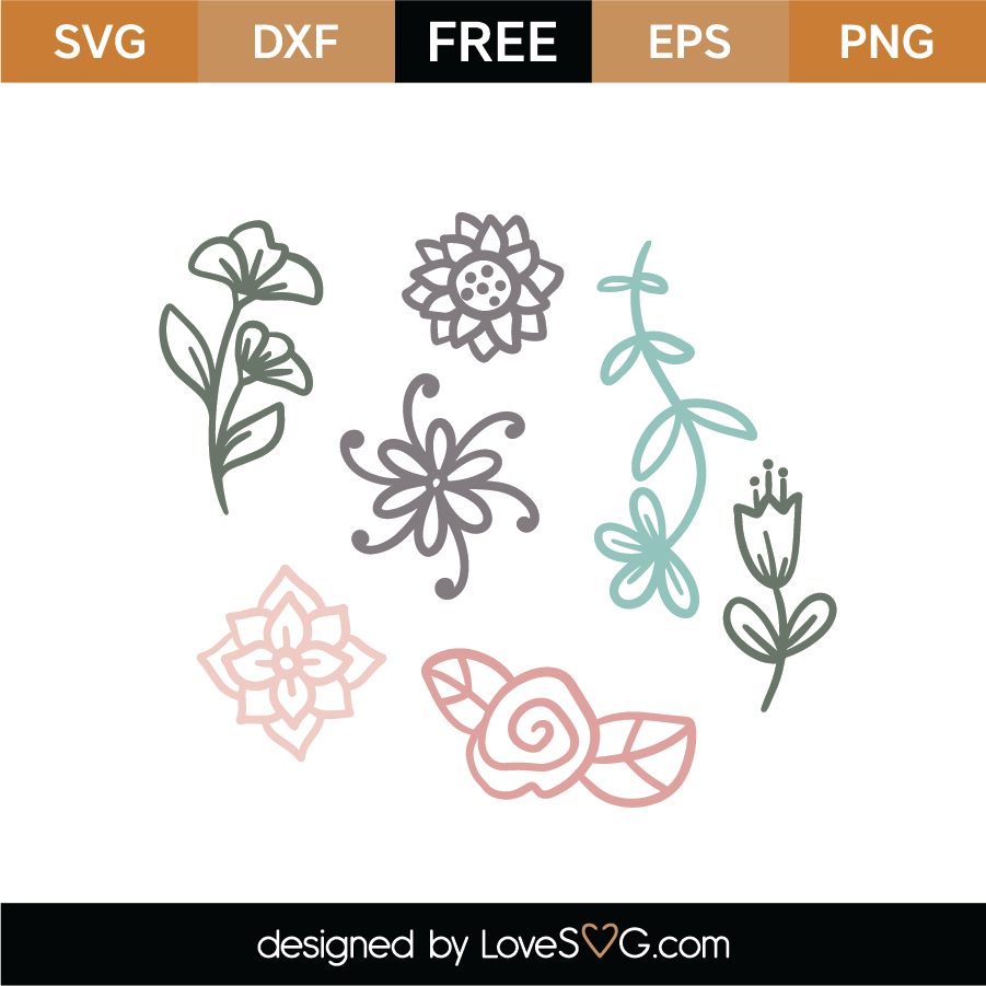 floral svg free #182, Download drawings