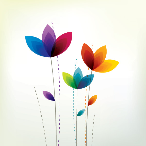 Floral Vector coloring #10, Download drawings