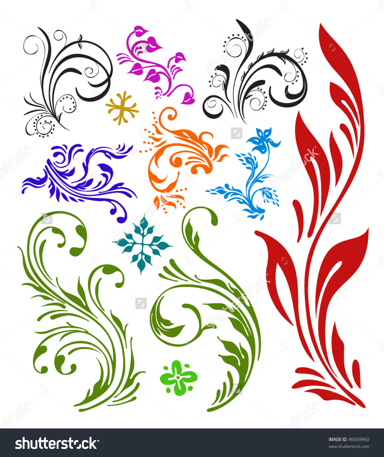 Floral Vector coloring #1, Download drawings