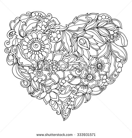 Floral Vector coloring #8, Download drawings
