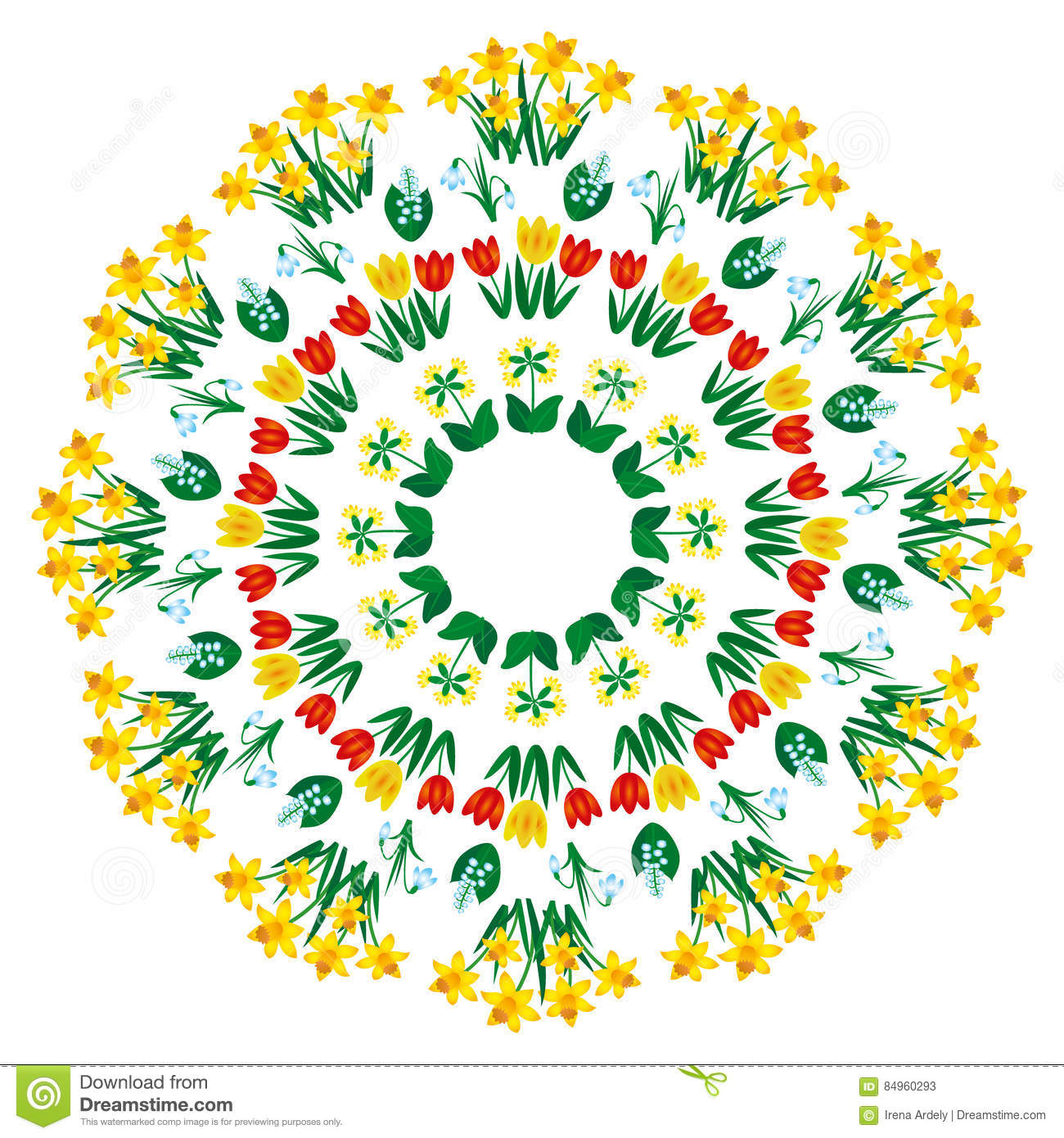 Floral Vector coloring #6, Download drawings