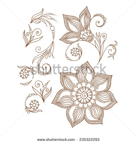 Floral Vector coloring #4, Download drawings