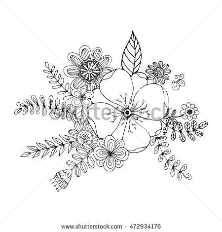 Floral Vector coloring #5, Download drawings