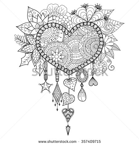 Floral Vector coloring #3, Download drawings