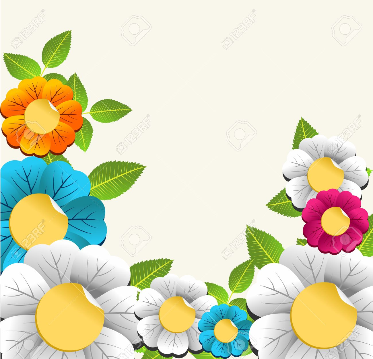 Floral Vector coloring #12, Download drawings