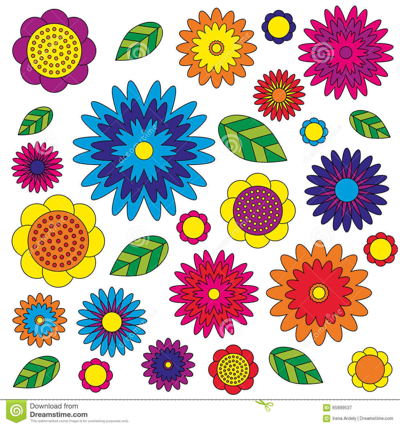 Floral Vector coloring #16, Download drawings