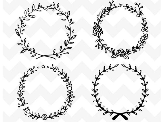 floral wreath svg #320, Download drawings