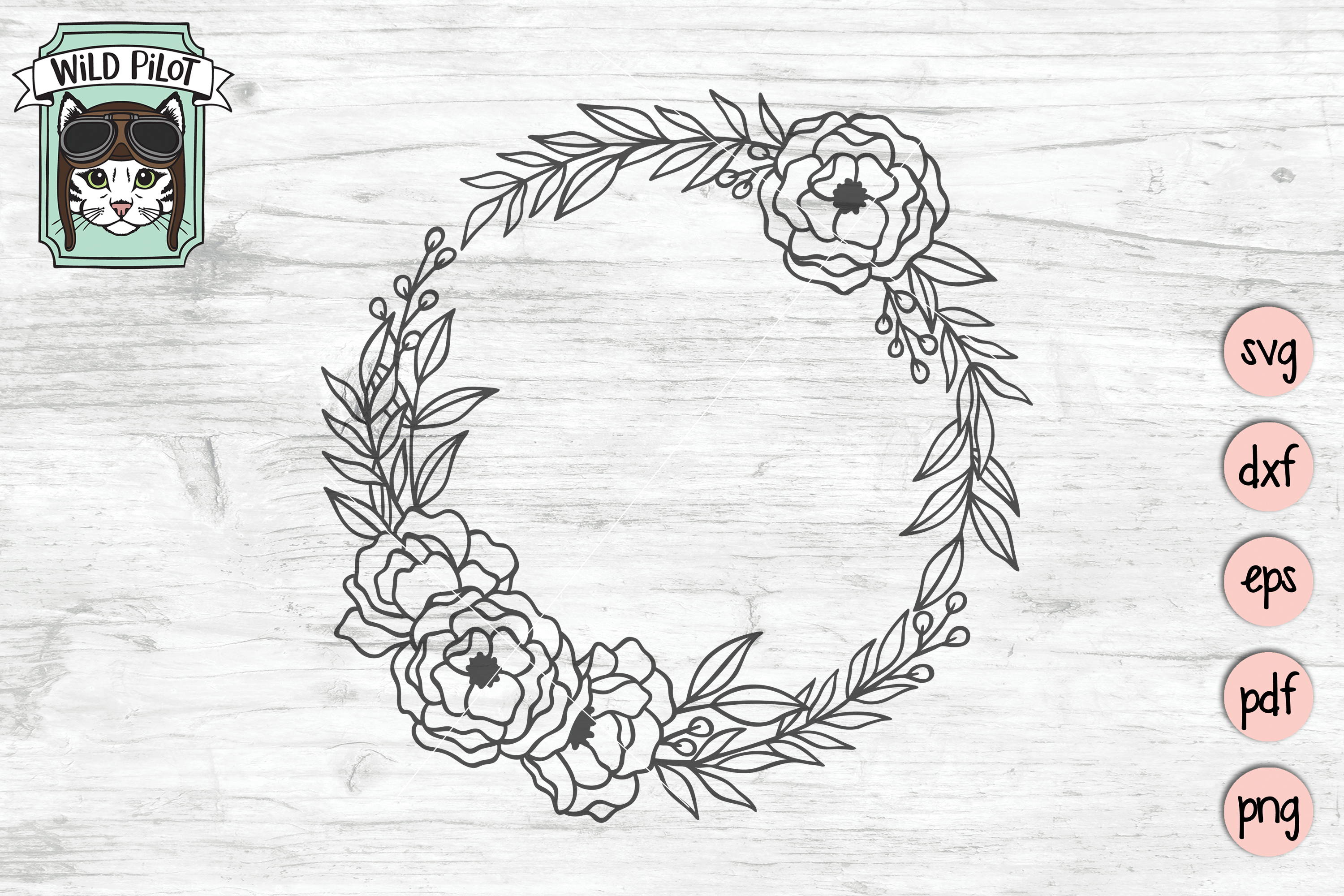 floral wreath svg #307, Download drawings