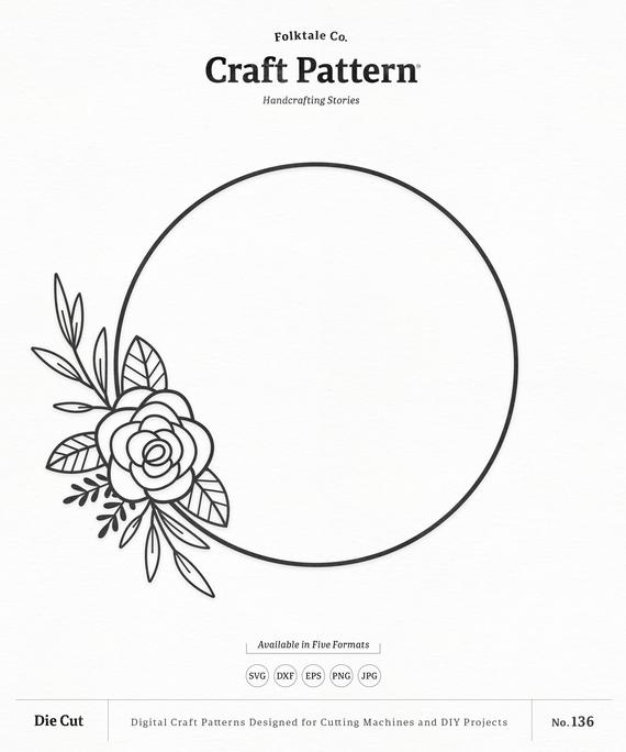 floral wreath svg #317, Download drawings