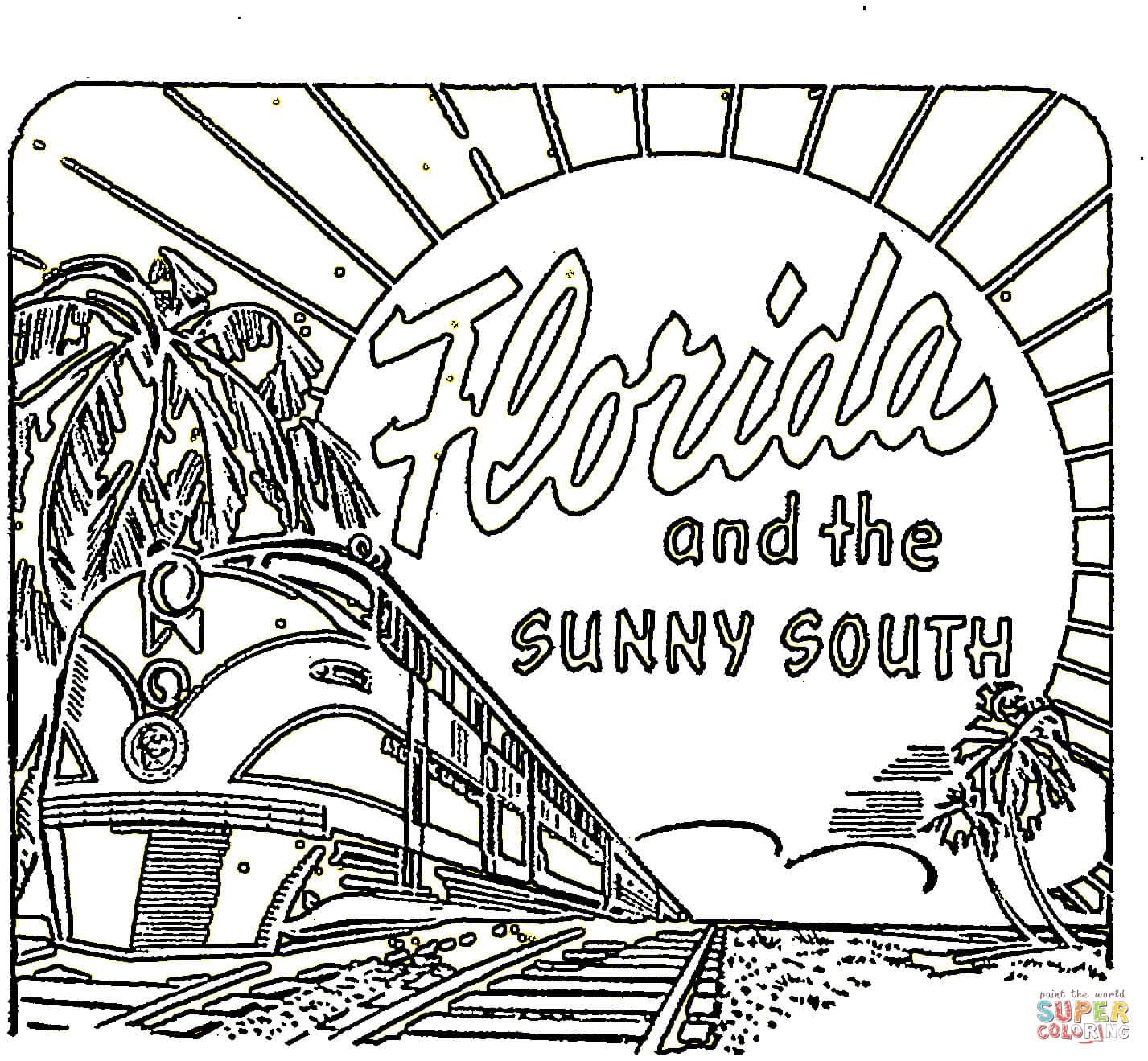 Florida coloring #17, Download drawings