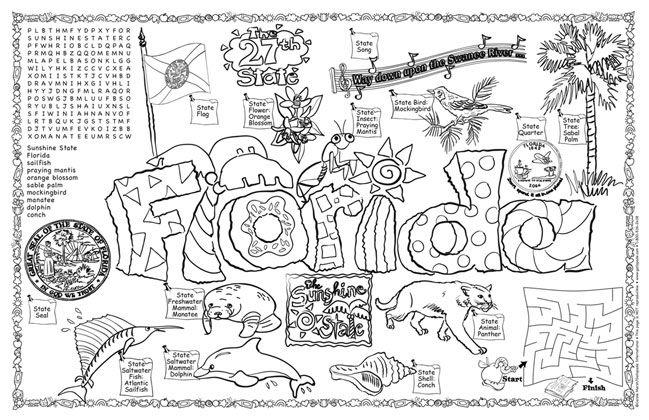Florida coloring #12, Download drawings