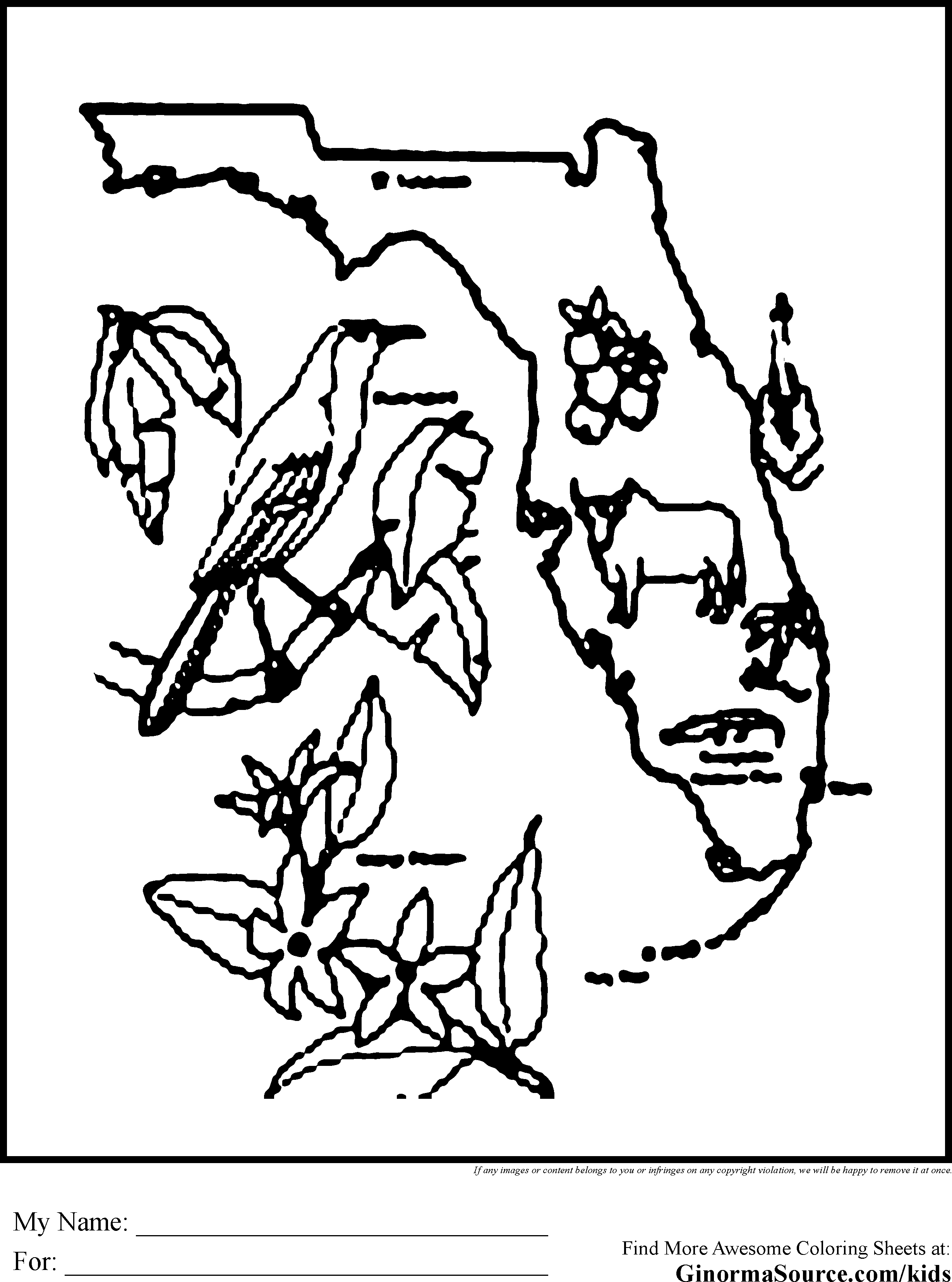 Florida coloring #16, Download drawings