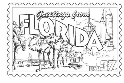 Florida coloring #5, Download drawings