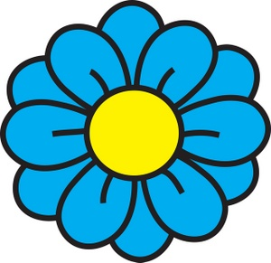 Blue Flower clipart #16, Download drawings