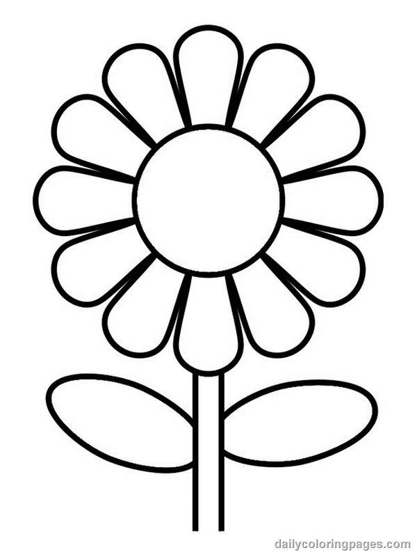 Flower coloring #18, Download drawings