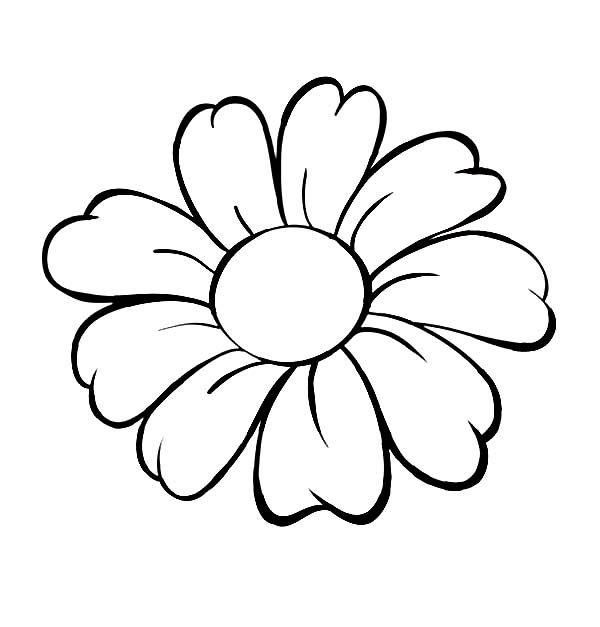 Flower coloring #10, Download drawings