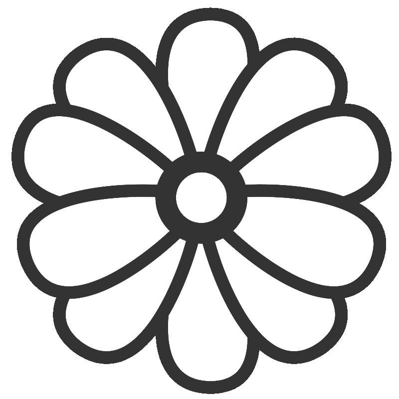 Flower coloring #7, Download drawings