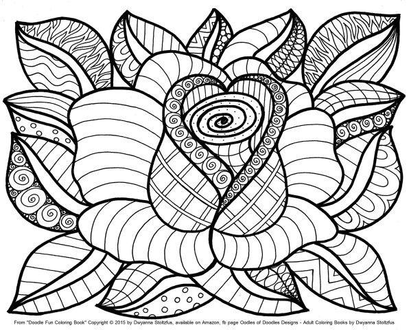 Flower coloring #8, Download drawings