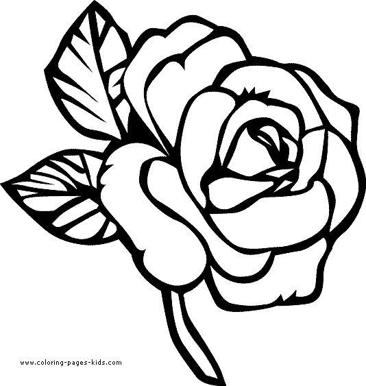 Flower coloring #9, Download drawings