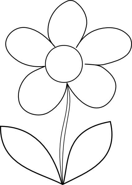 Flower coloring #12, Download drawings