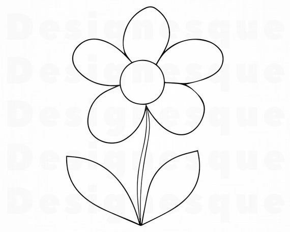 flower outline svg #674, Download drawings