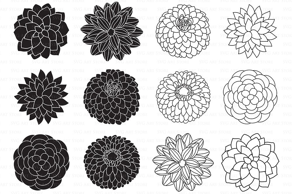 flower outline svg #670, Download drawings